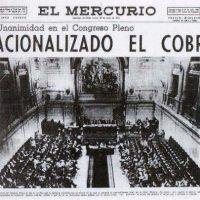 """Histórico, en un día como hoy: """"Por unanimidad en el Congreso Pleno, Nacionalizado el Cobre"""""""