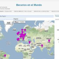 Becarios chilenos en el mundo. Visualizador interactivo de Conicyt